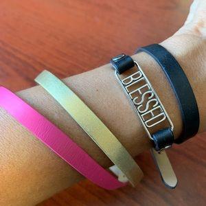 Origami Owl Leather strap bracelet